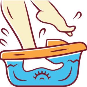 เทคนิคการชำระล้างด้วยไอออนผ่านเท้า